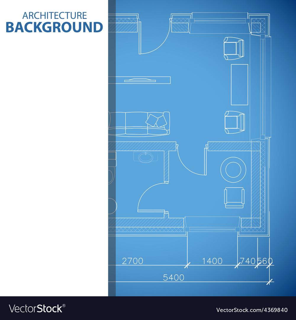 Blue building background vector