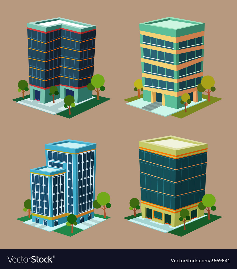 Isometric building 1 vector