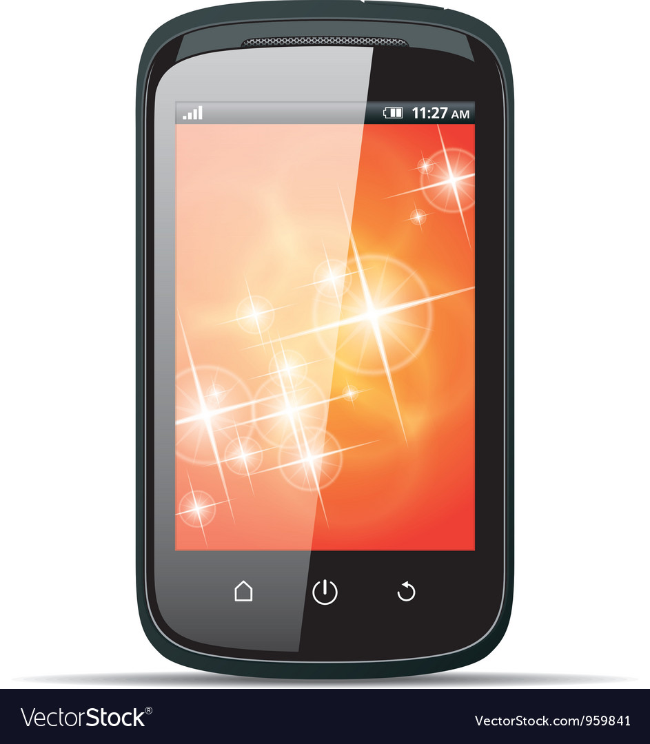 Realistic smartphone on a white background vector
