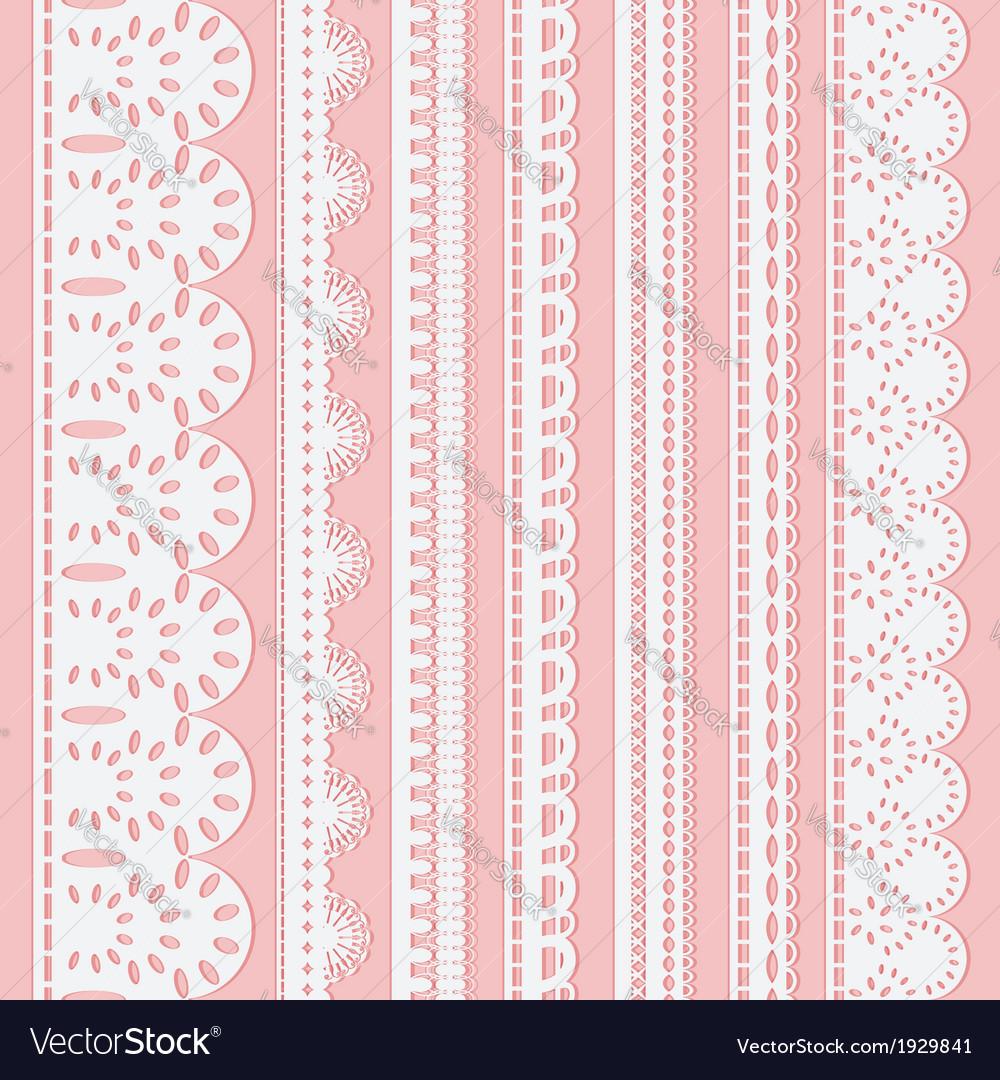 Seven white ribbons vector