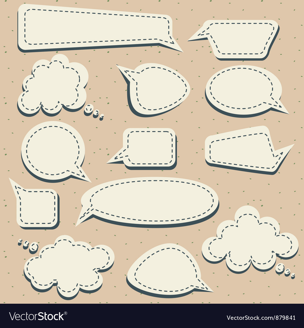 Speech and thought blobs vector