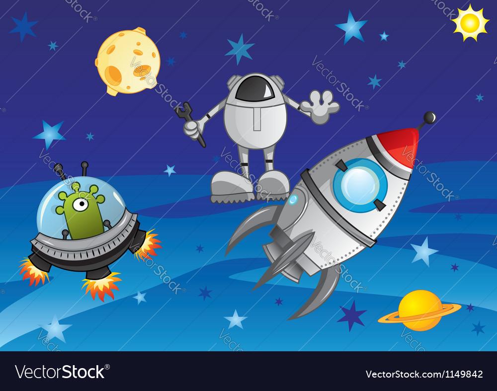 Adventure in cosmos vector