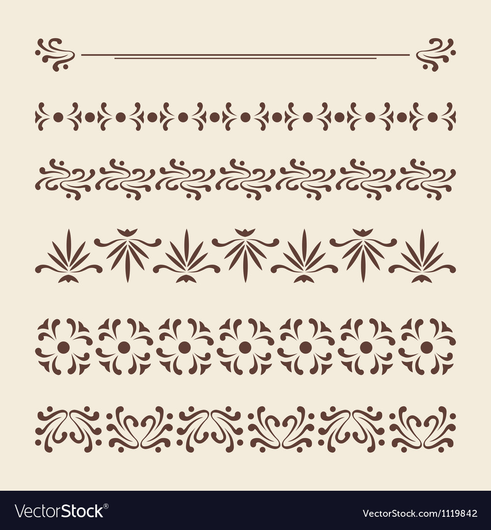 Borders for page decoration vector