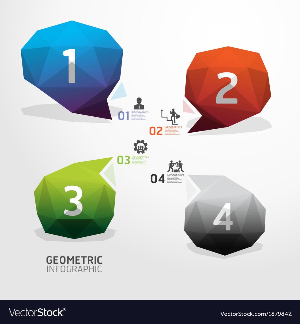 Geometric bubble colorful modern design vector