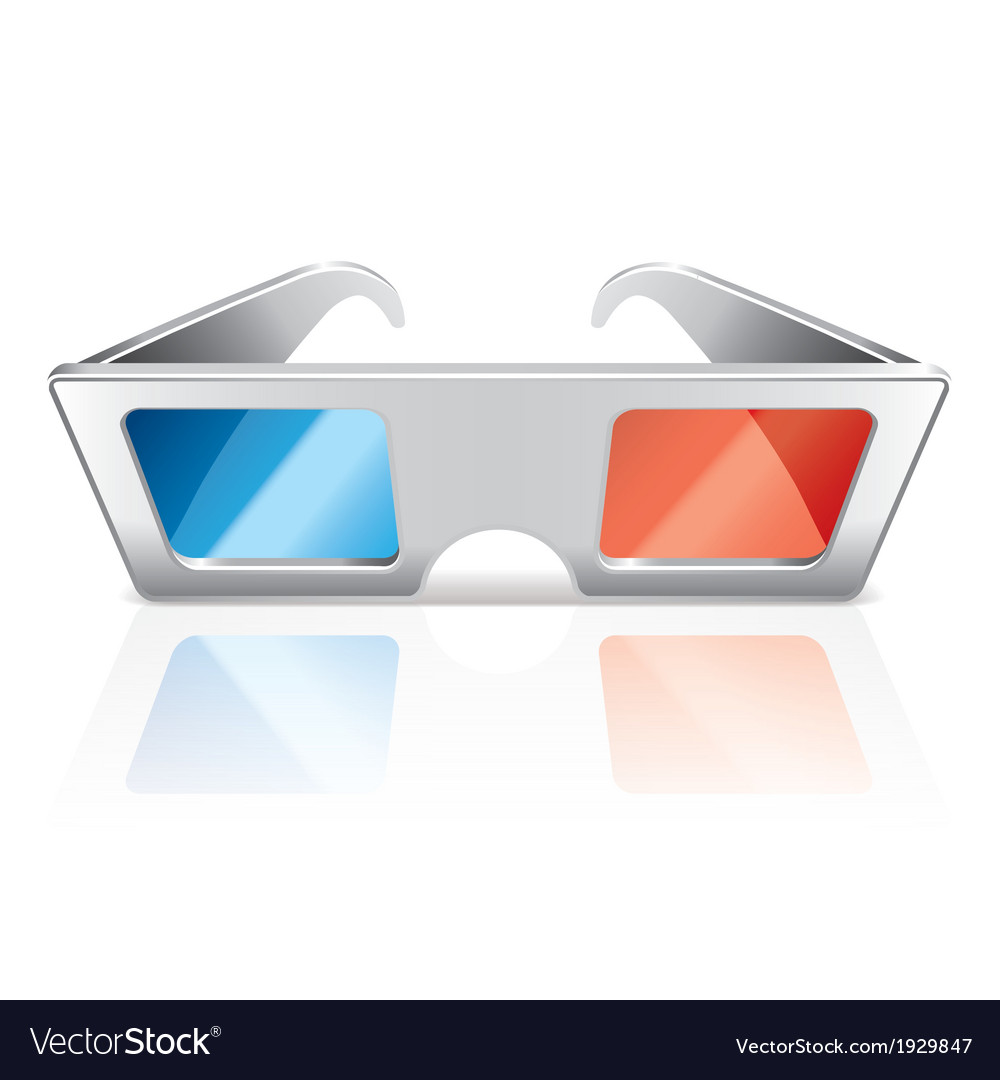 Object 3d glasses vector