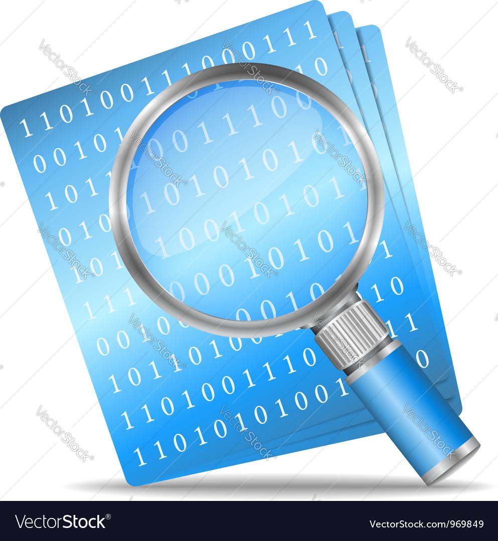Search file icon vector