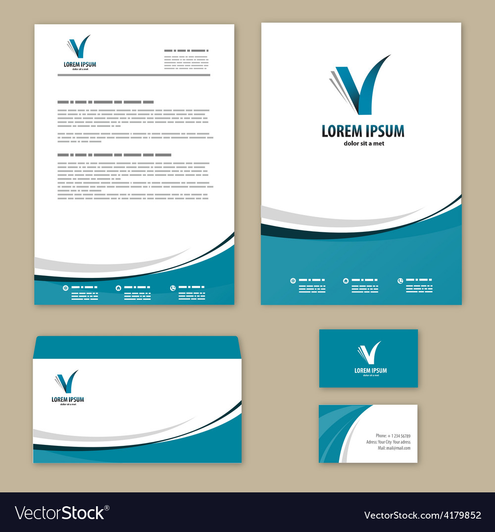 Template corporate style vector