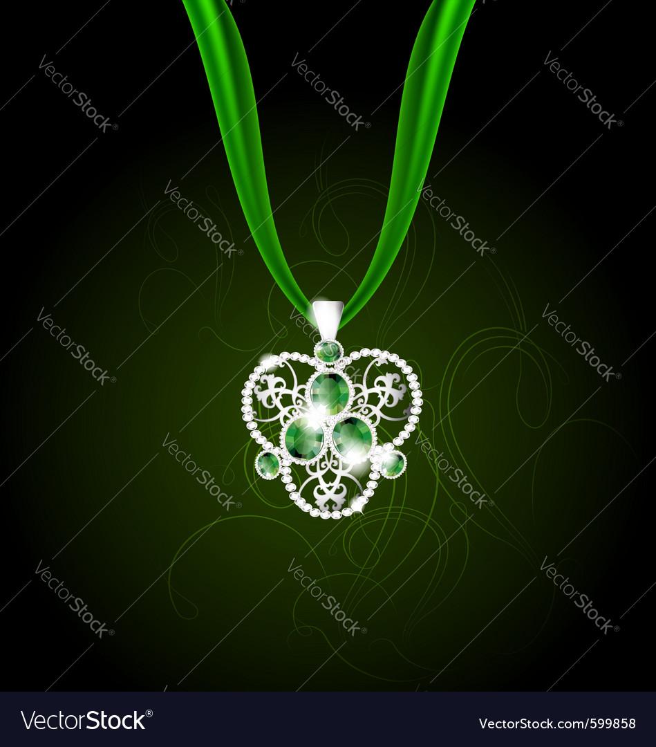 Jewelry pendant vector