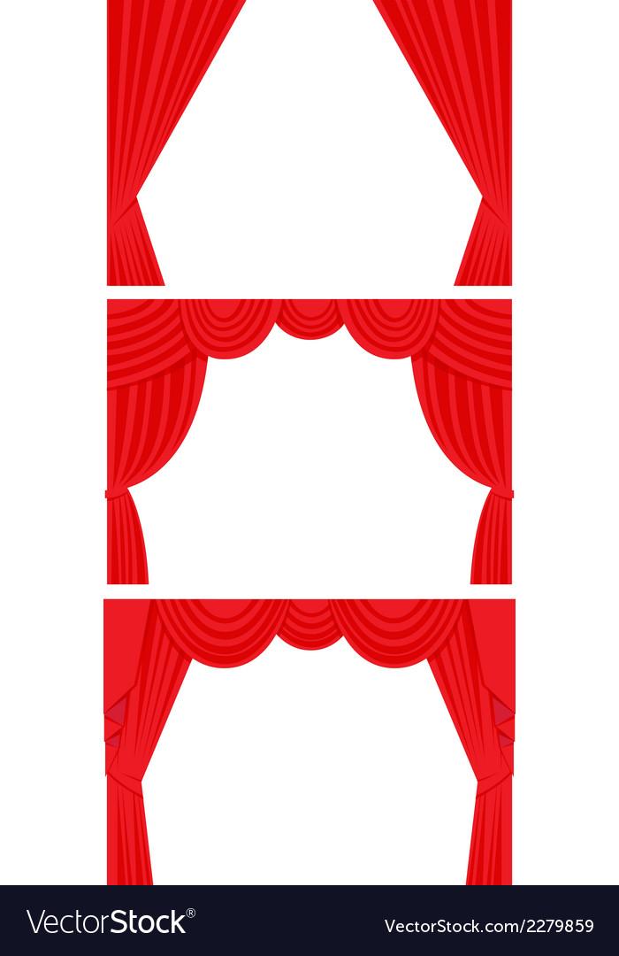 Curtain set flat style vector