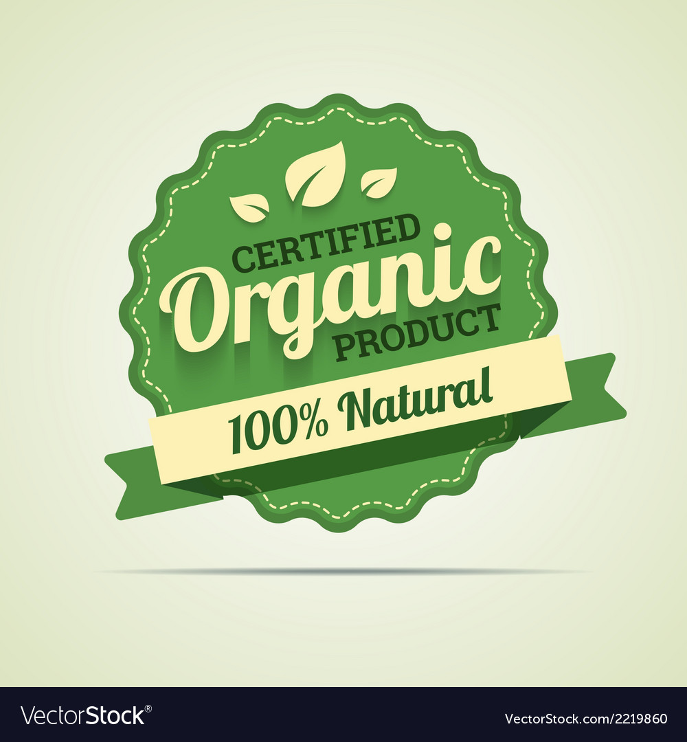 Organic product badge vector