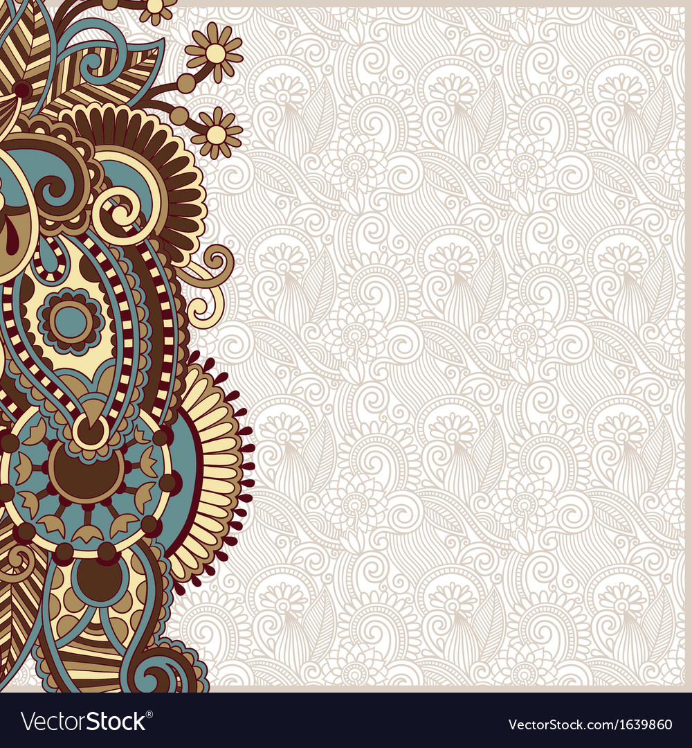 Ornate card announcement vector
