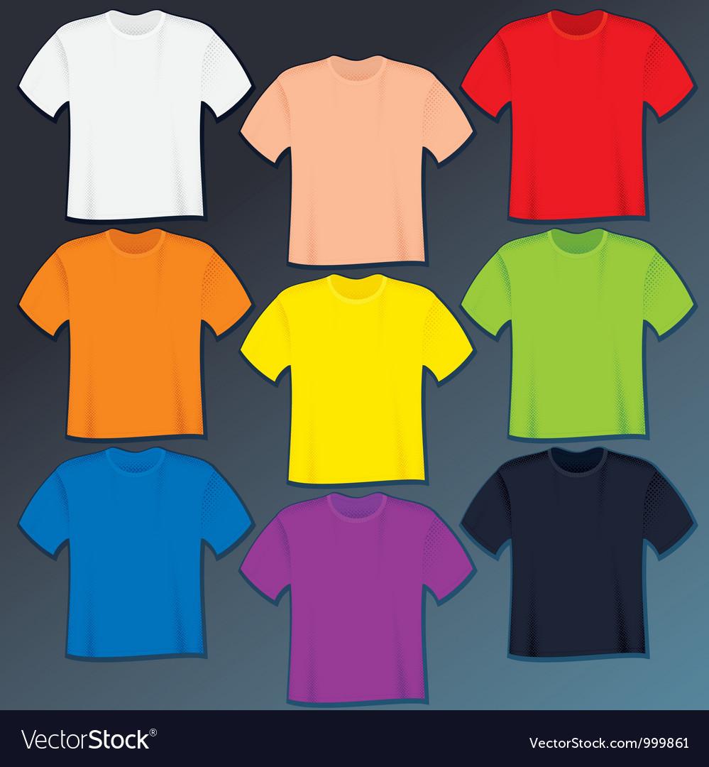 Blank t-shirts templates vector