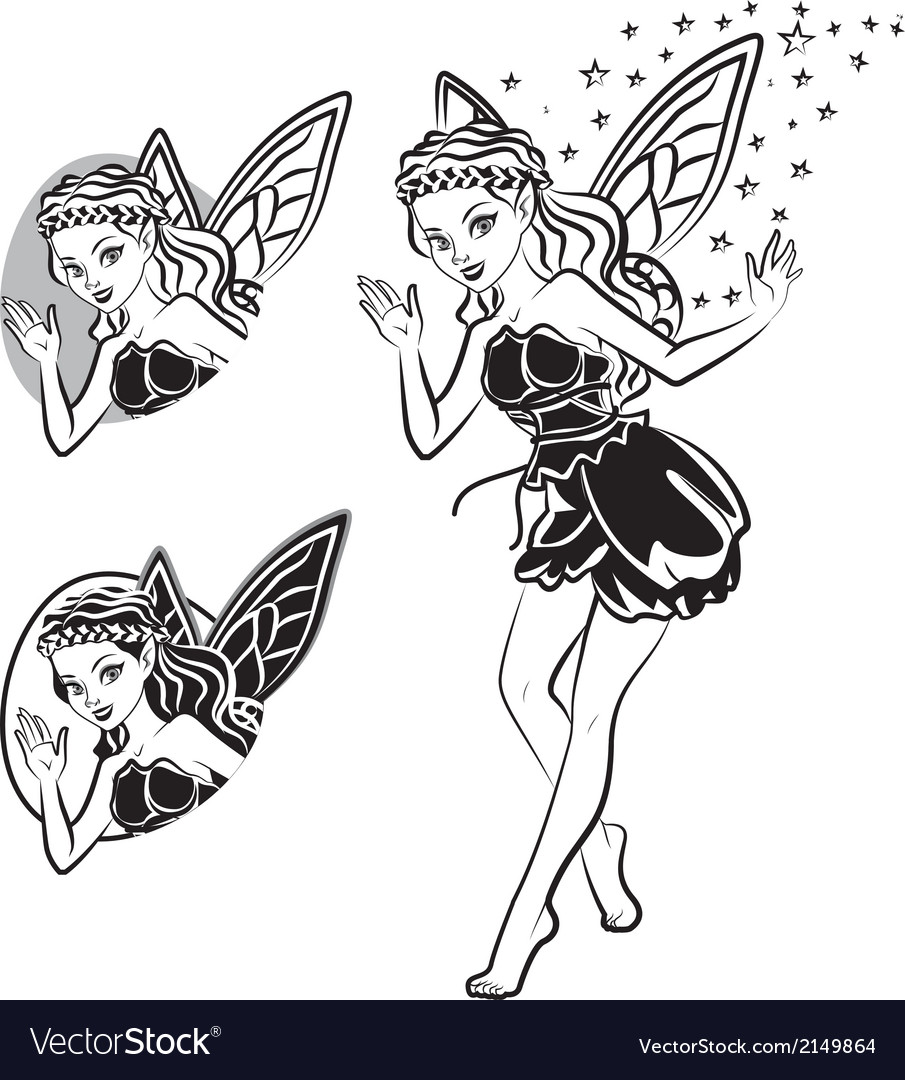 Fairy lines vector