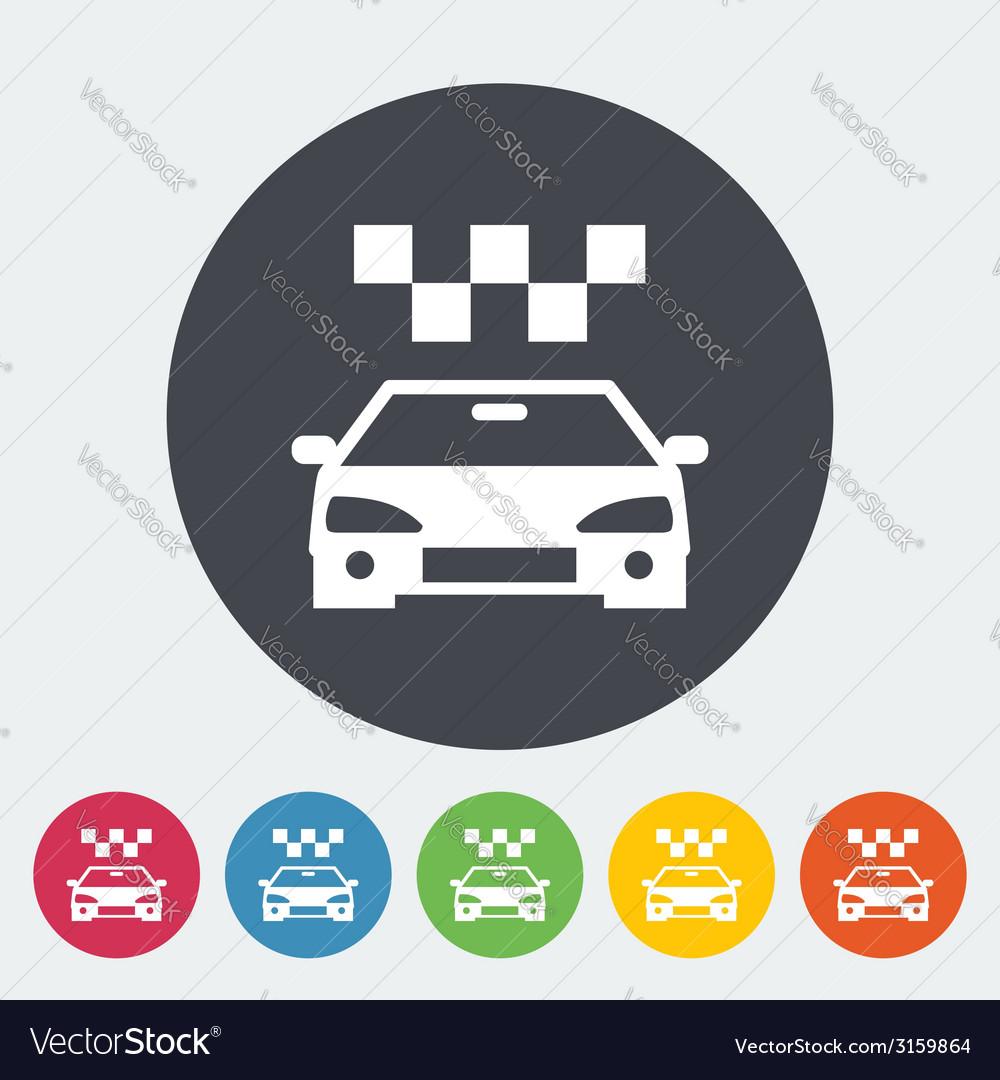 Icon taxi vector