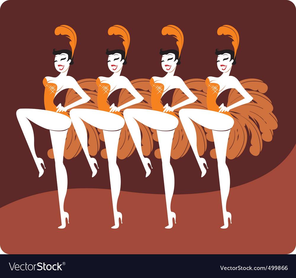 Showgirls vector