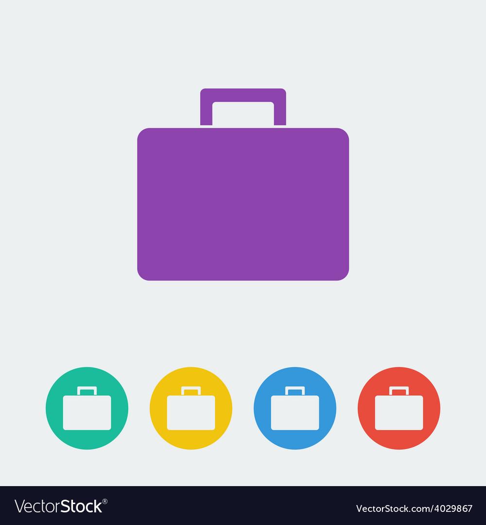 Bag flat circle icon vector
