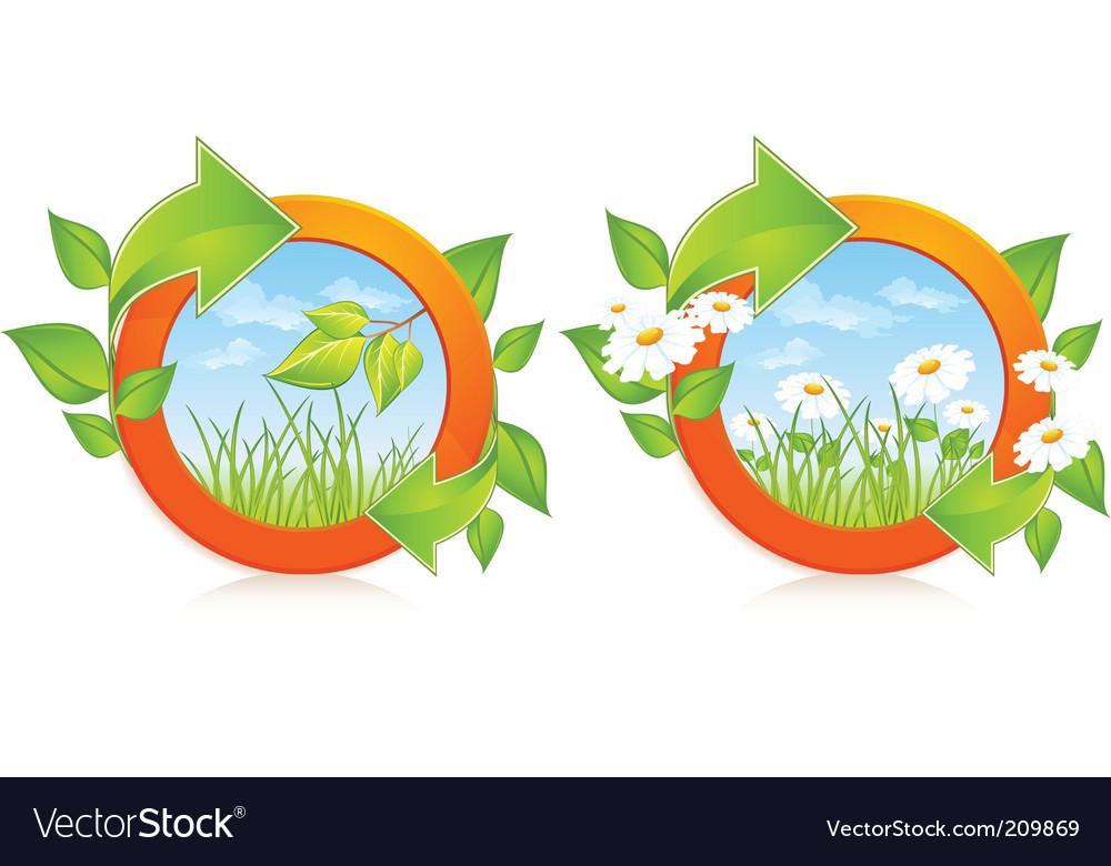 Nature circles vector