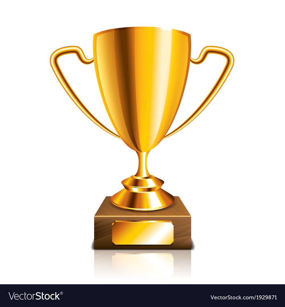 Object golden trophy vector