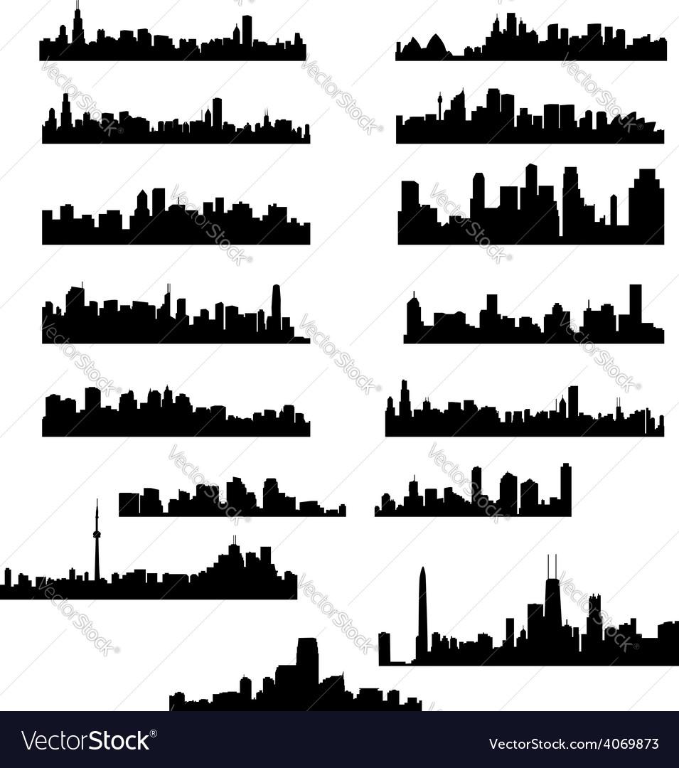 City panoramas vector