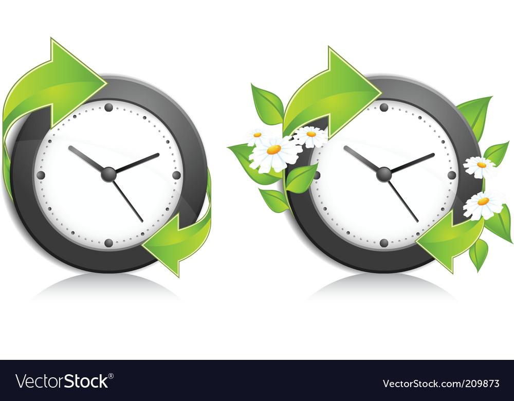 Nature clock vector