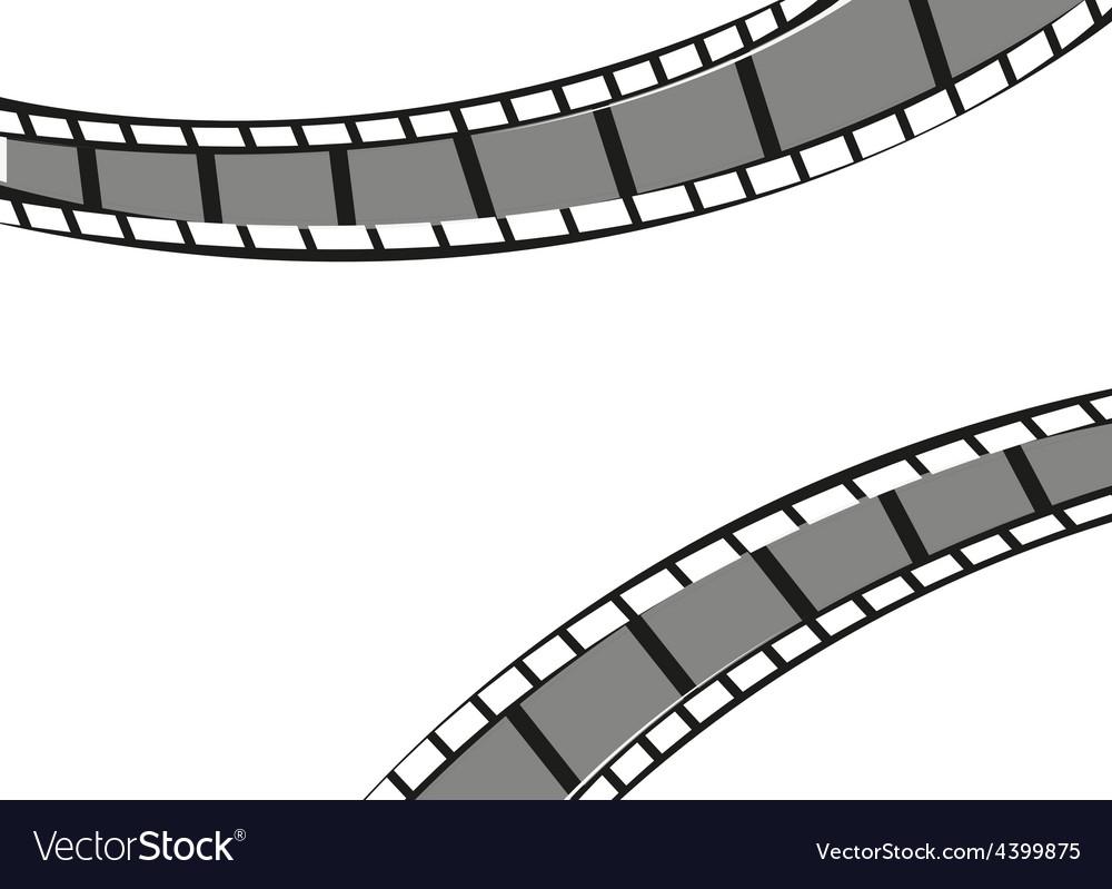 Filmstrip background vector