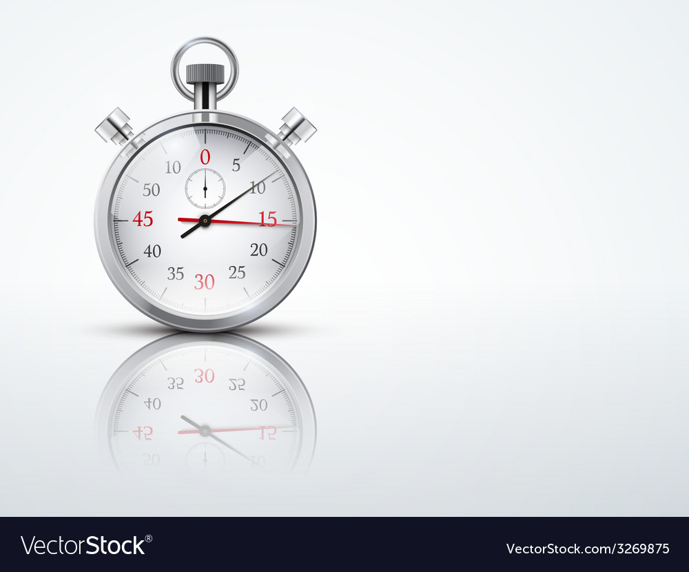 Light background with chronometer stopwatches vector