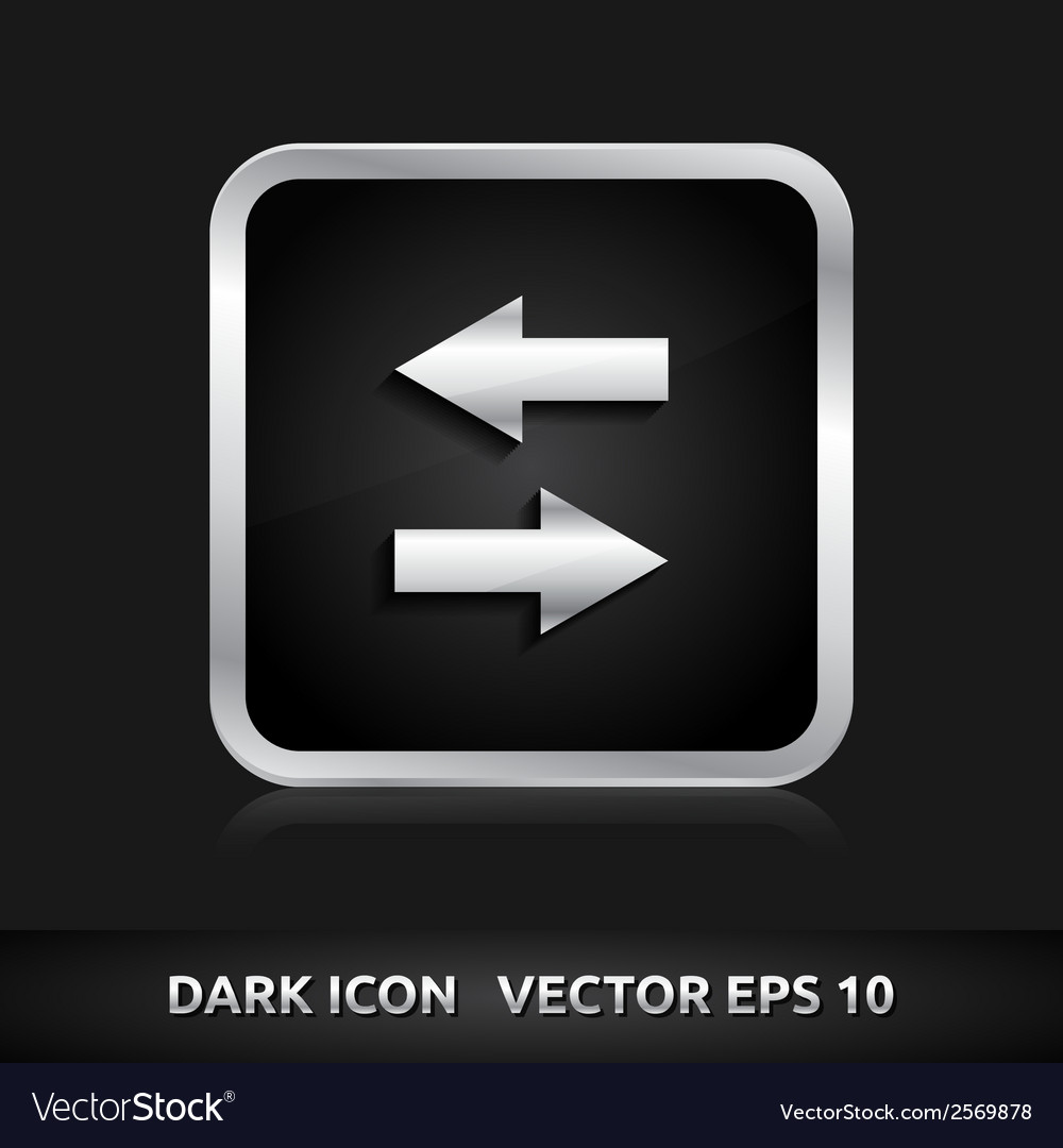 Data icon silver metal vector