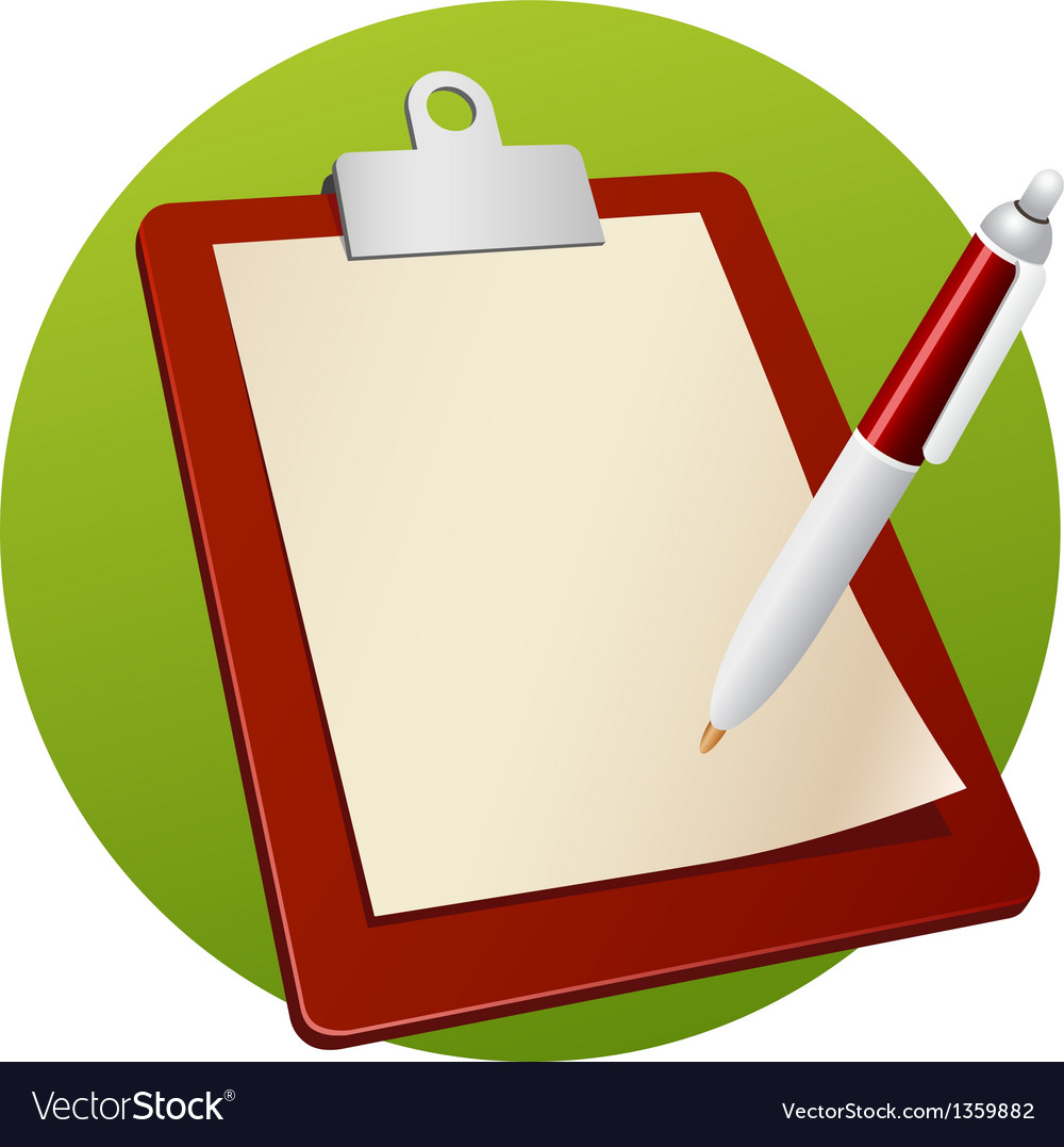 Writing board vector