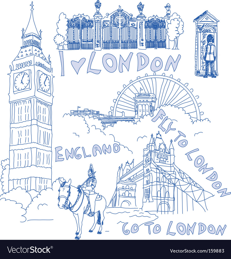 London doodles vector