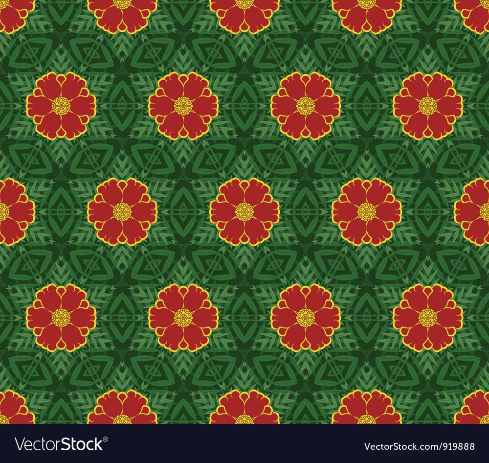 Seamless decorative color retro pattern vector