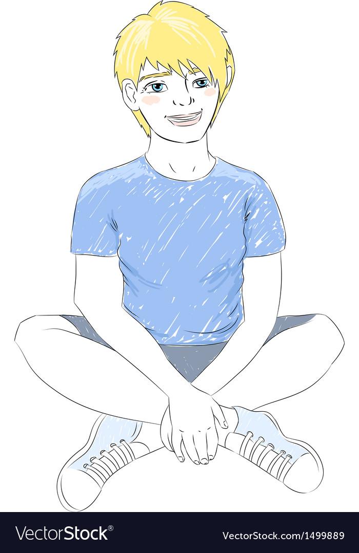Teenager boy vector