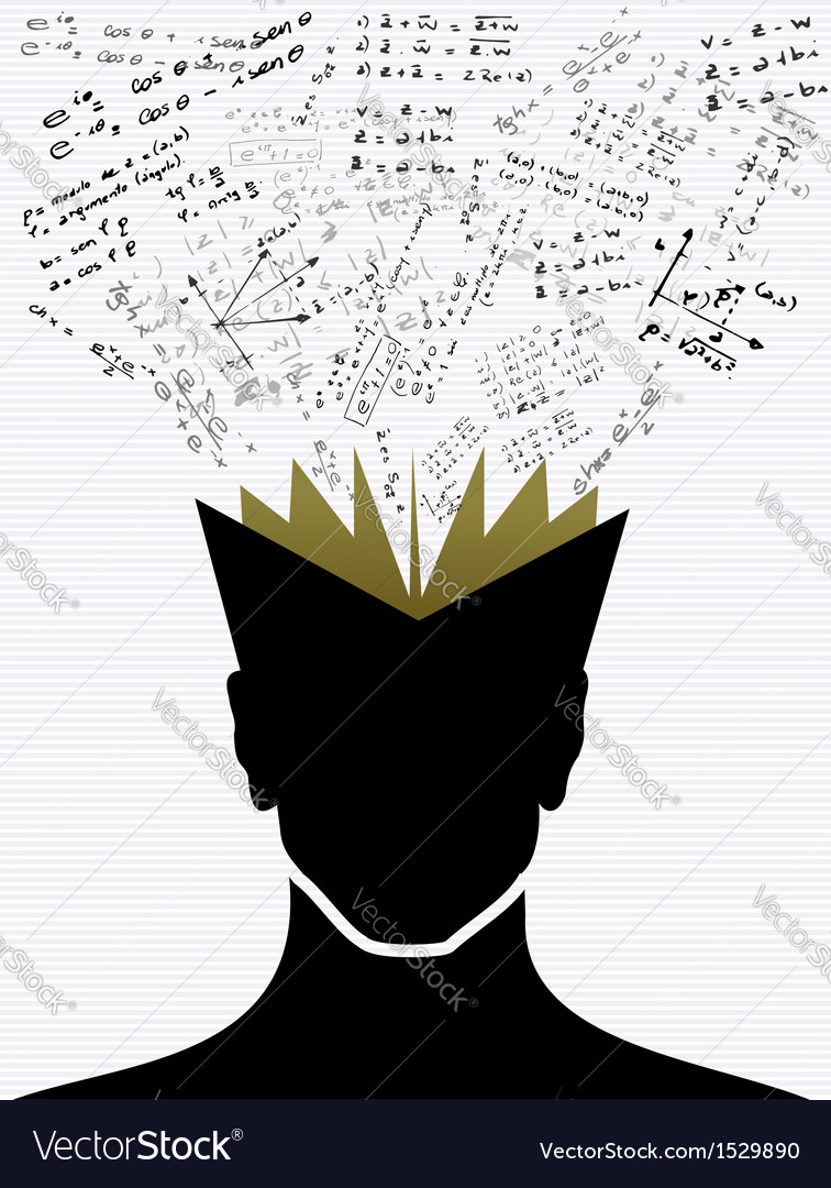 Education icons back to school human head book vector