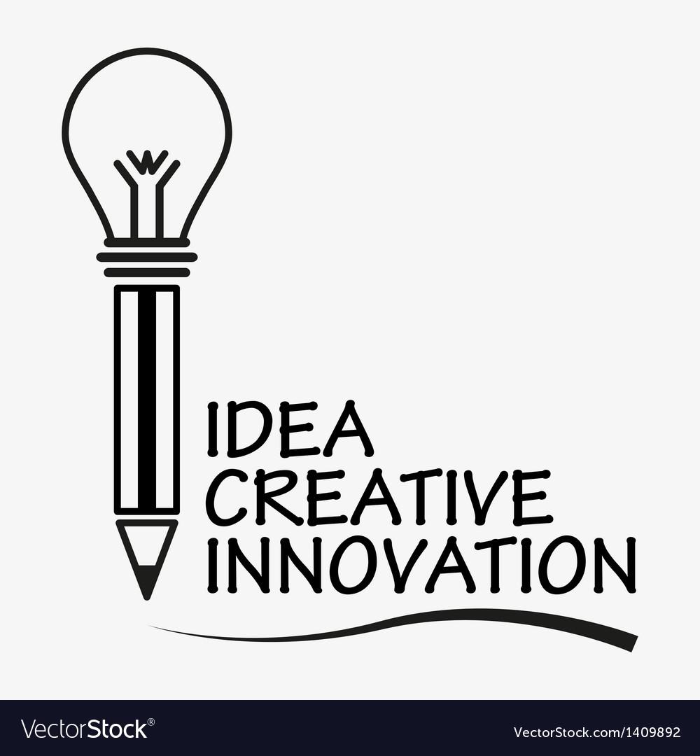 Creative pen concept vector