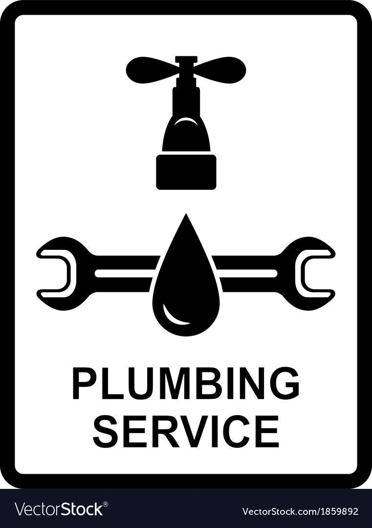Icon of plumbing service vector