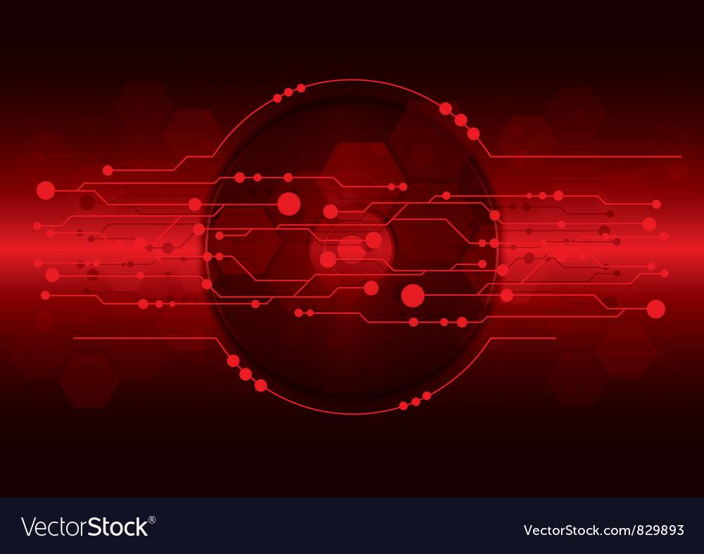 Cd dvd disk on red digital background vector