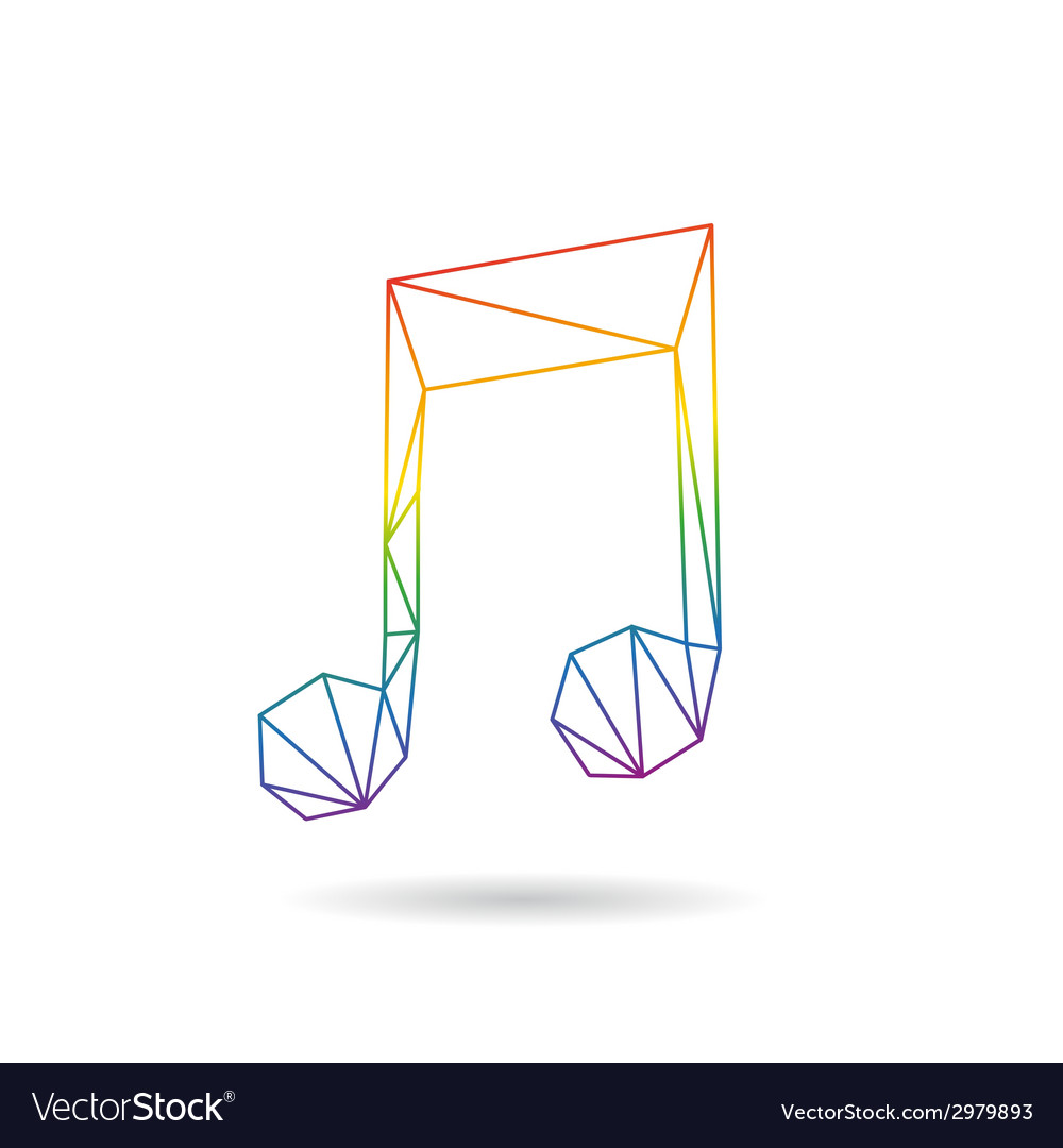 Note abstract isolated vector