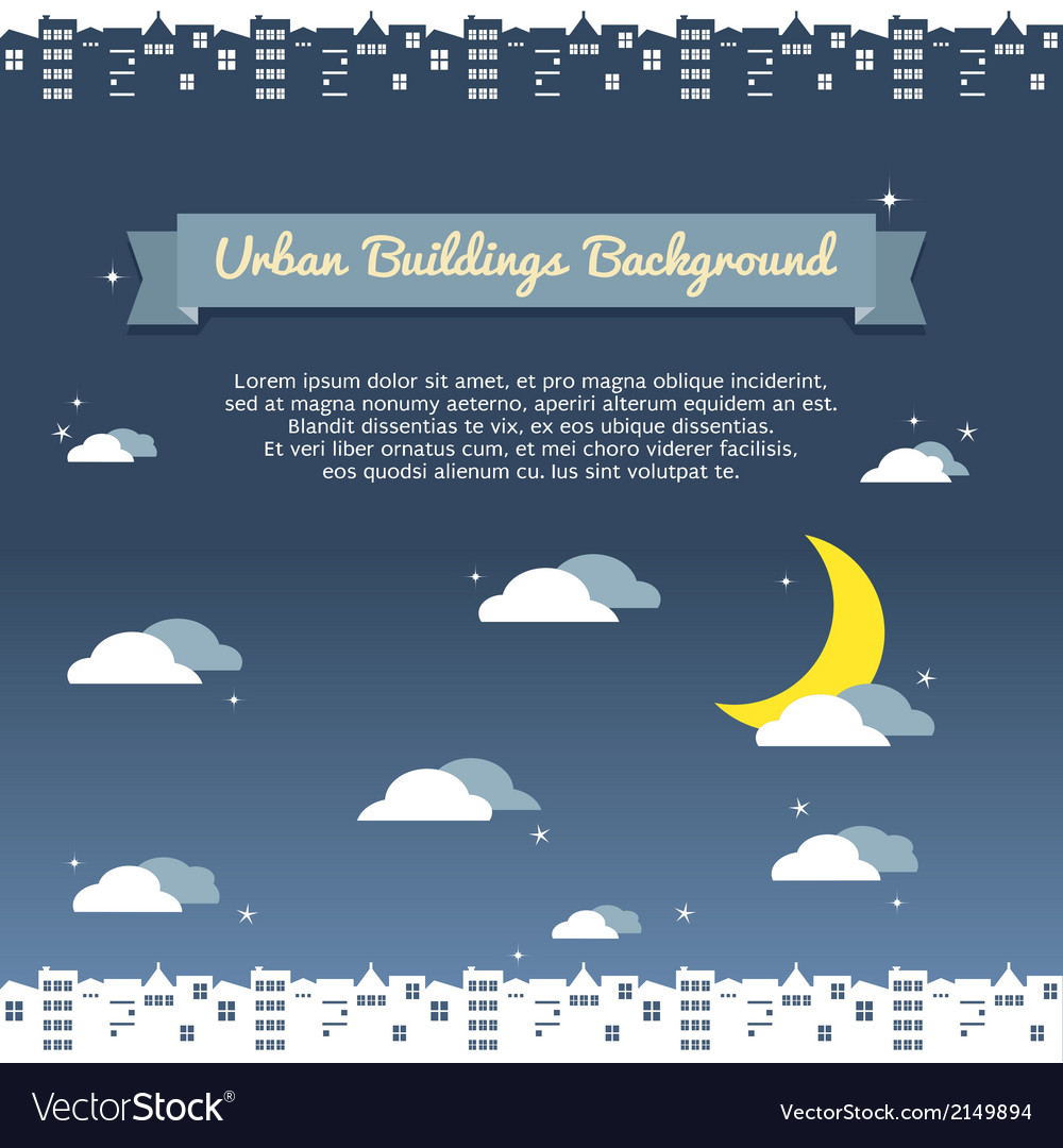 Urban building background vector
