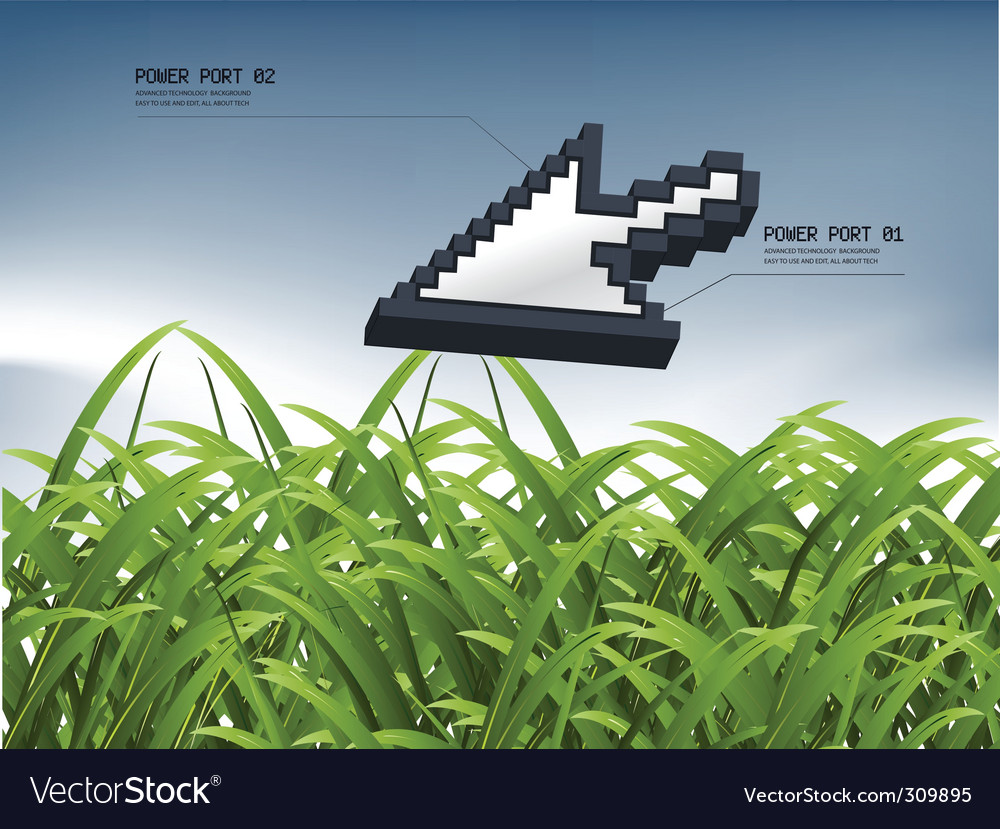 Nature cursor vector