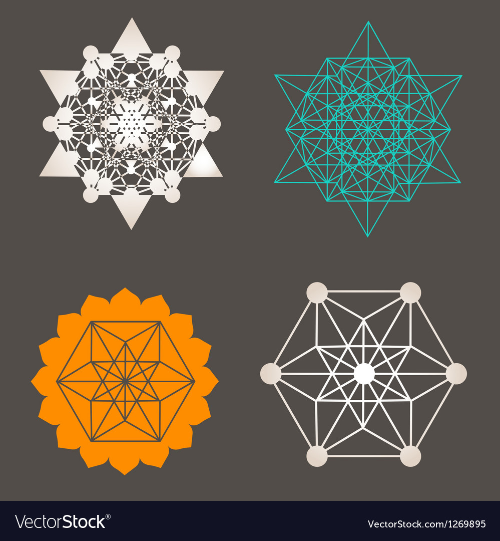 Star tetrahedron designs vector