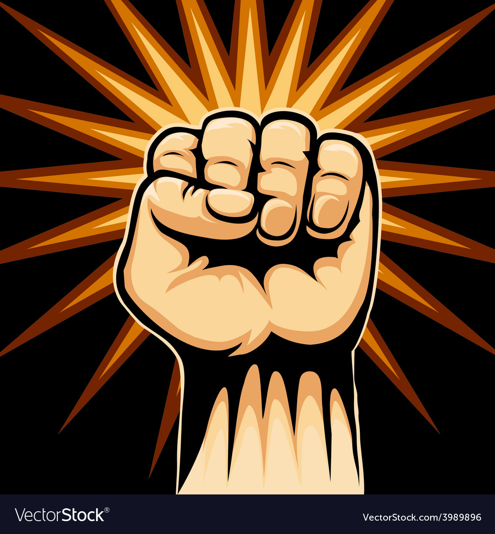 Raised fist symbol vector