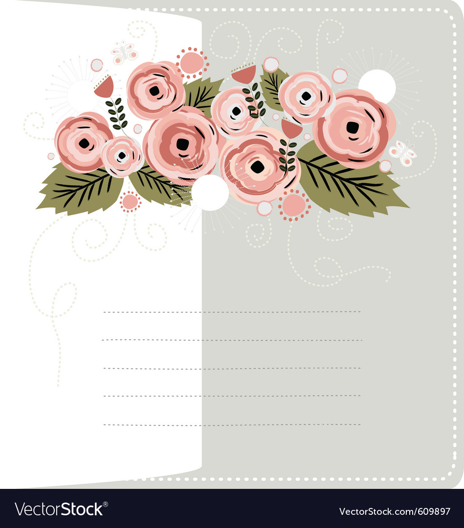 Floral stationary background vector