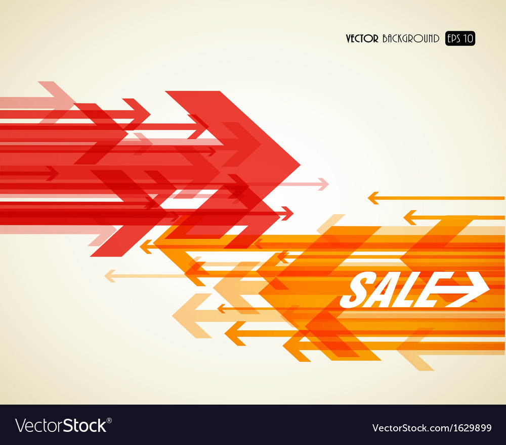 Abstract background with colorful arrows vector