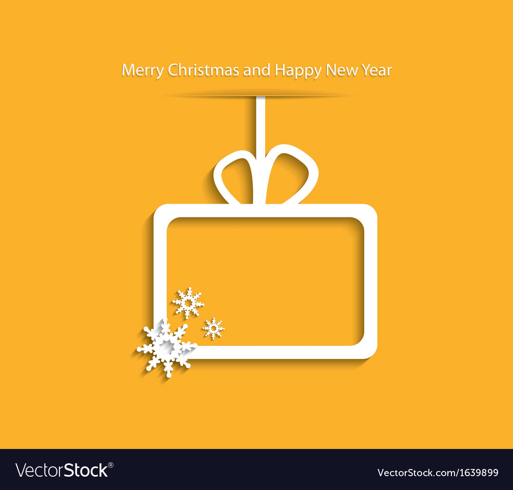 Christmas background with gift box and snowflake vector