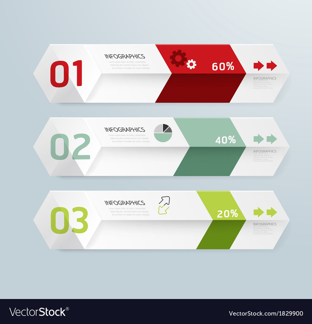 Infographic template modern box design minimal sty vector