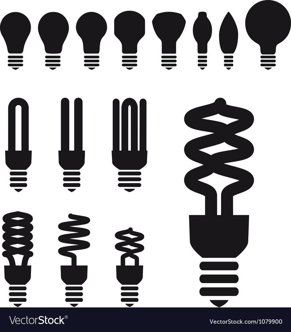 Set of energy saving bulbs vector