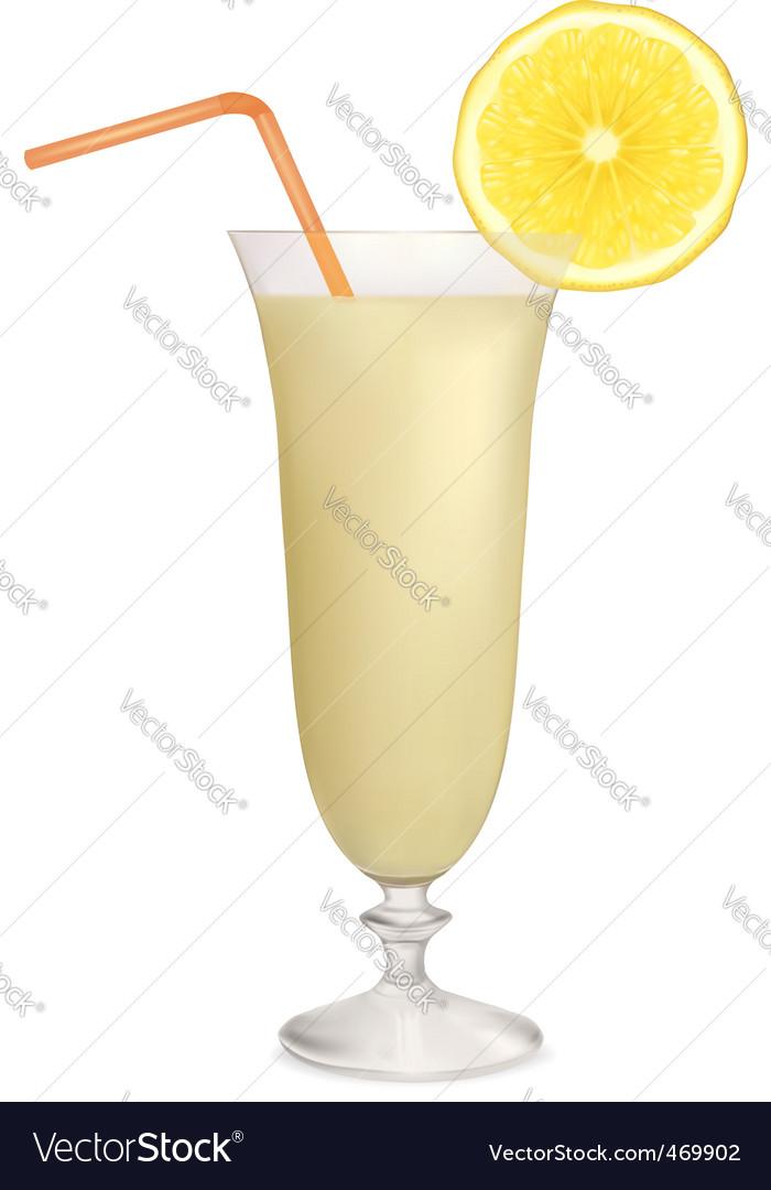 Cocktai milk vector