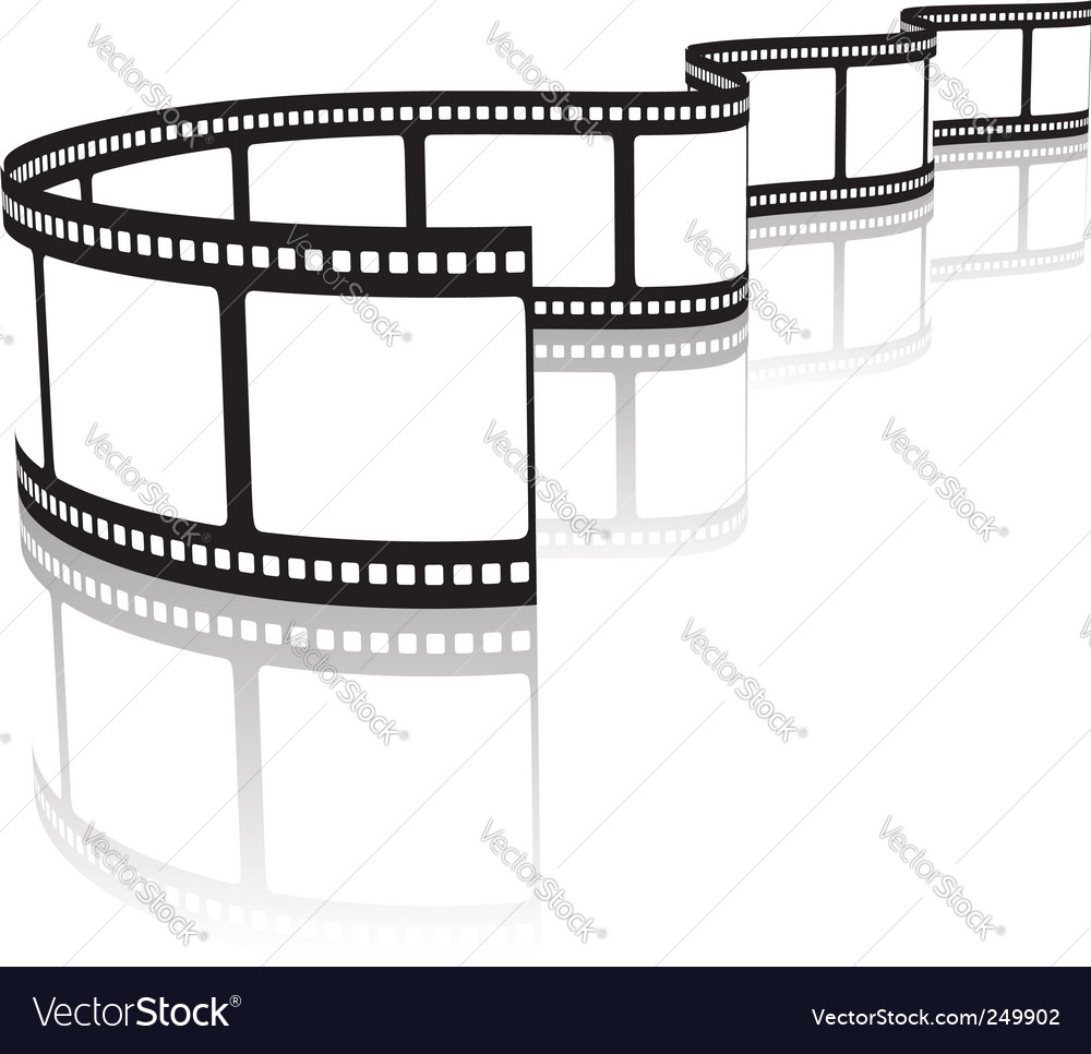 Film on a white vector