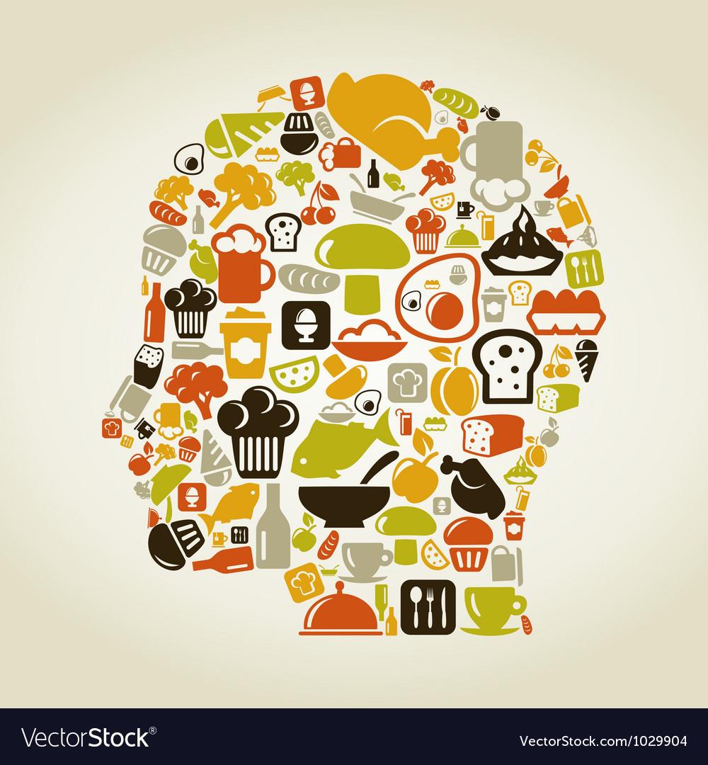 Head food vector
