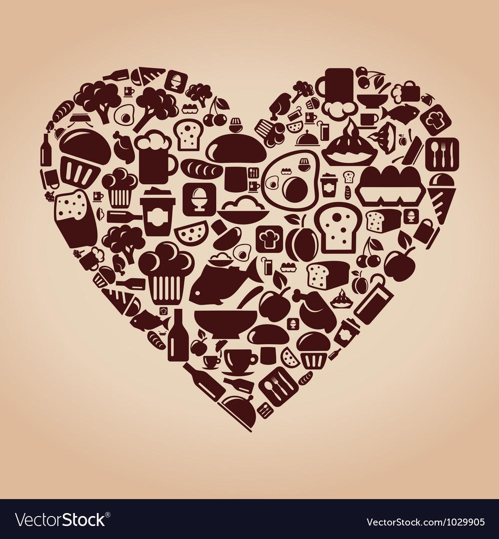 Heart food vector