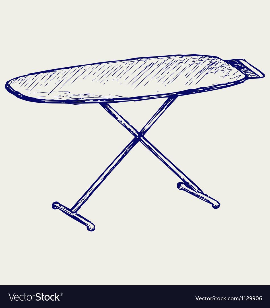 Ironing board vector